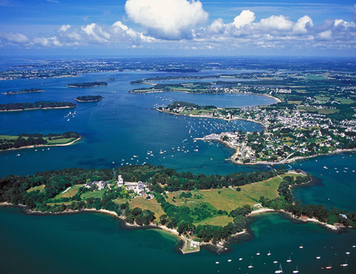 Morbihan, lieu magnifique où la mer, la terre et le ciel se mêlent